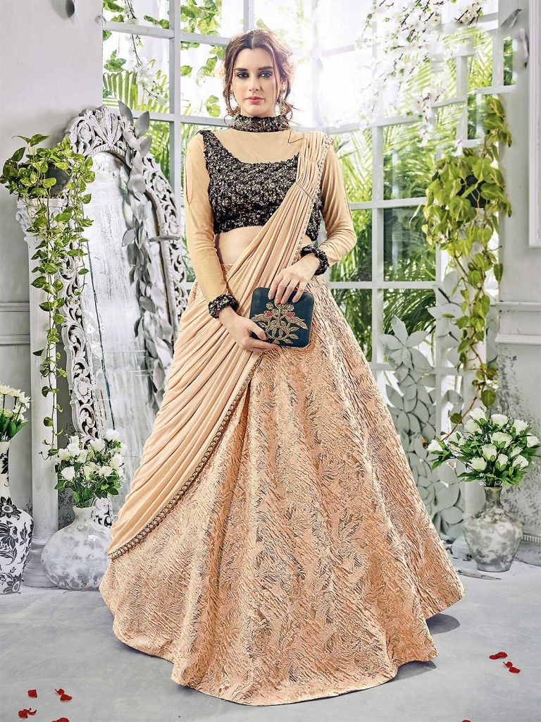 5483c8d457cb0 Indo Western Lehenga for Women who like to Be Different